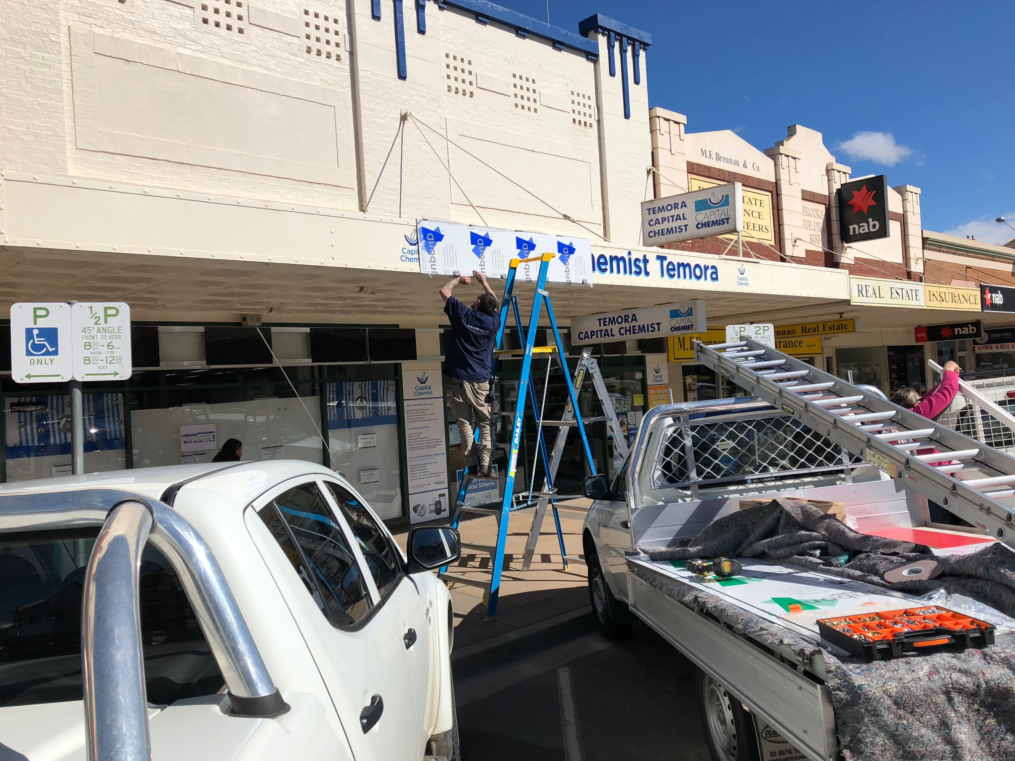 Our Canberra design firm spent time installing signage at the Temora location of Capital Chemist.