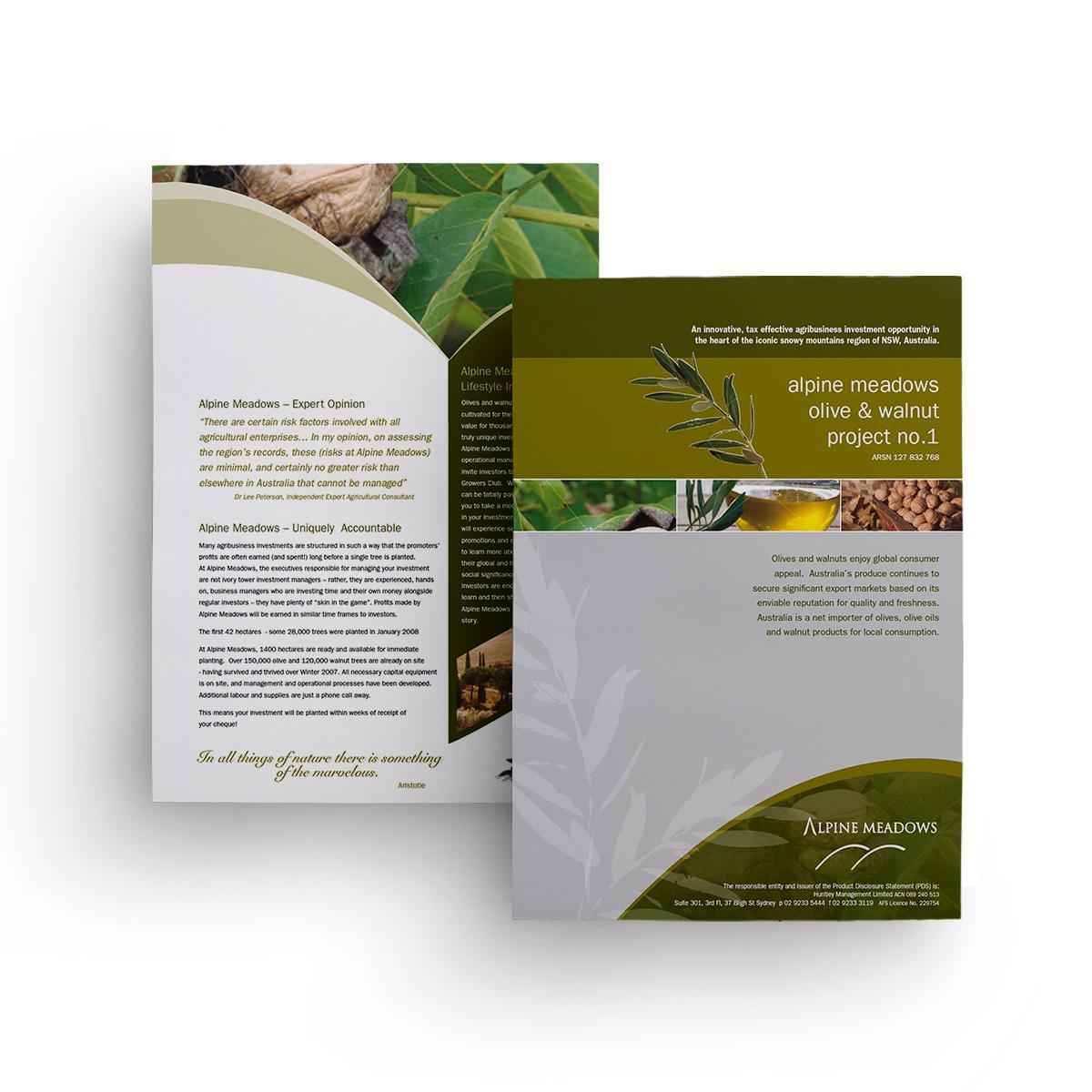 brochure layout & design Canberra