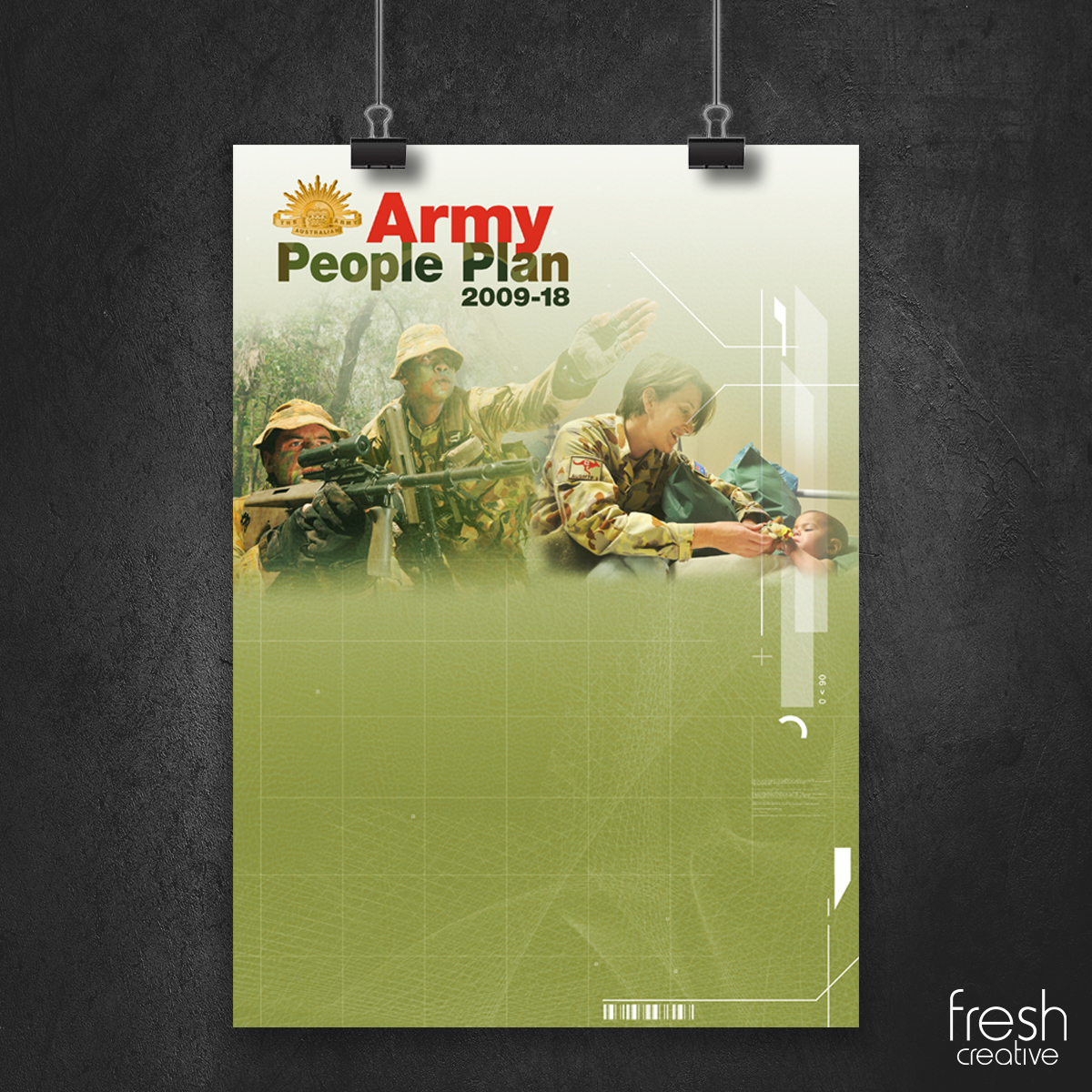 Custom made poster for the Army.