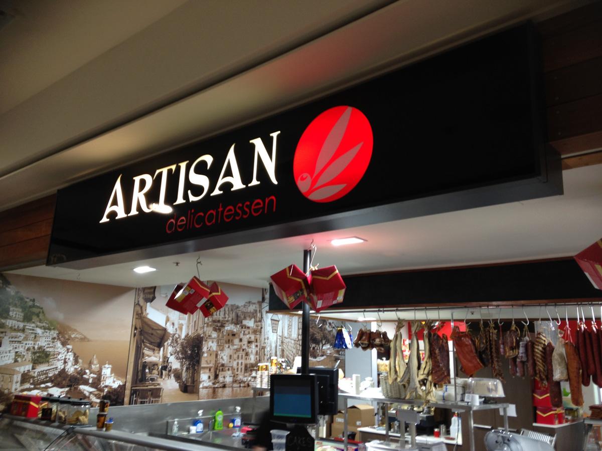 Artisan Delicatessen Shaped Signs