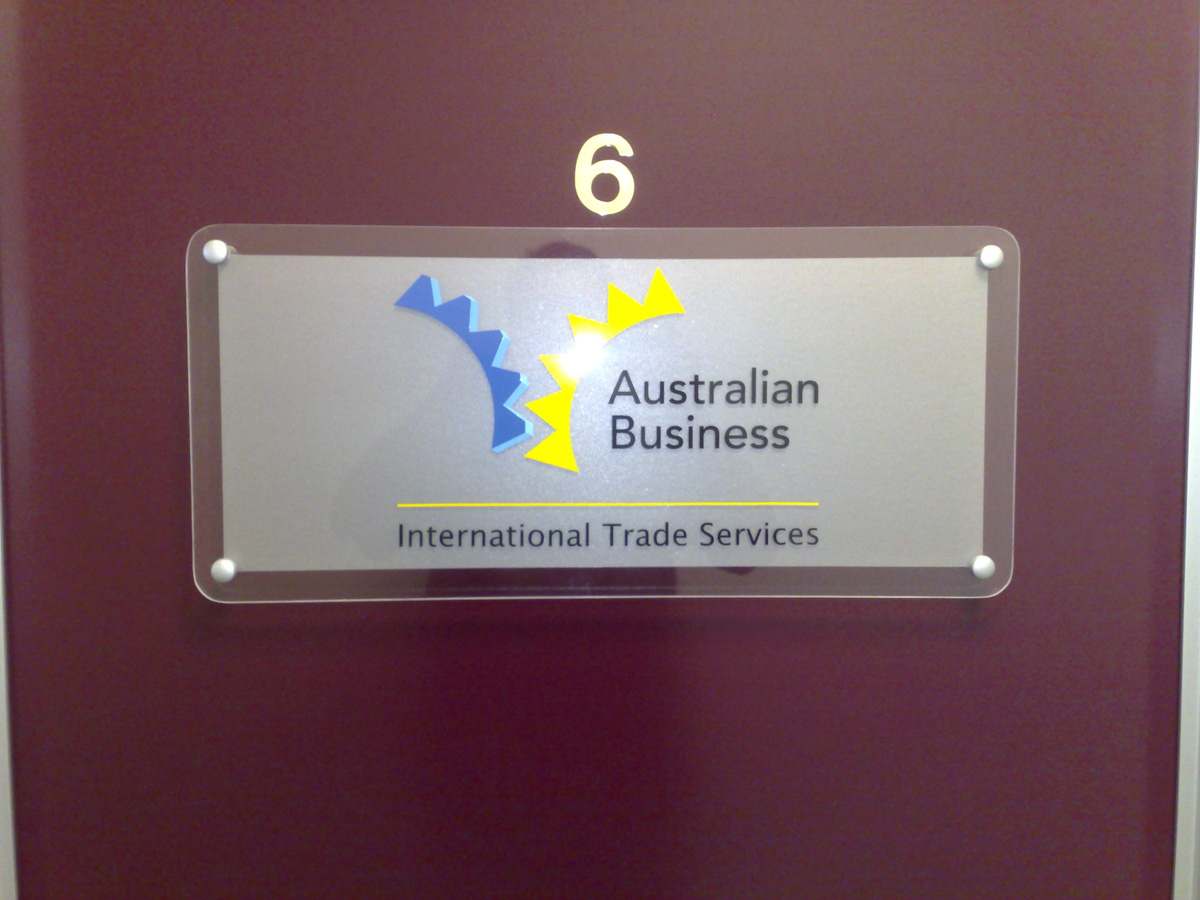 Australian Business International Trade Services Signage