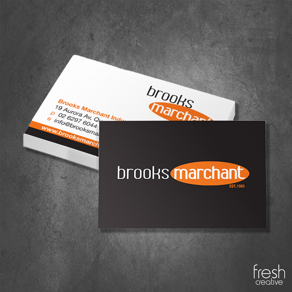 Brooks Marchant Business Cards Canberra
