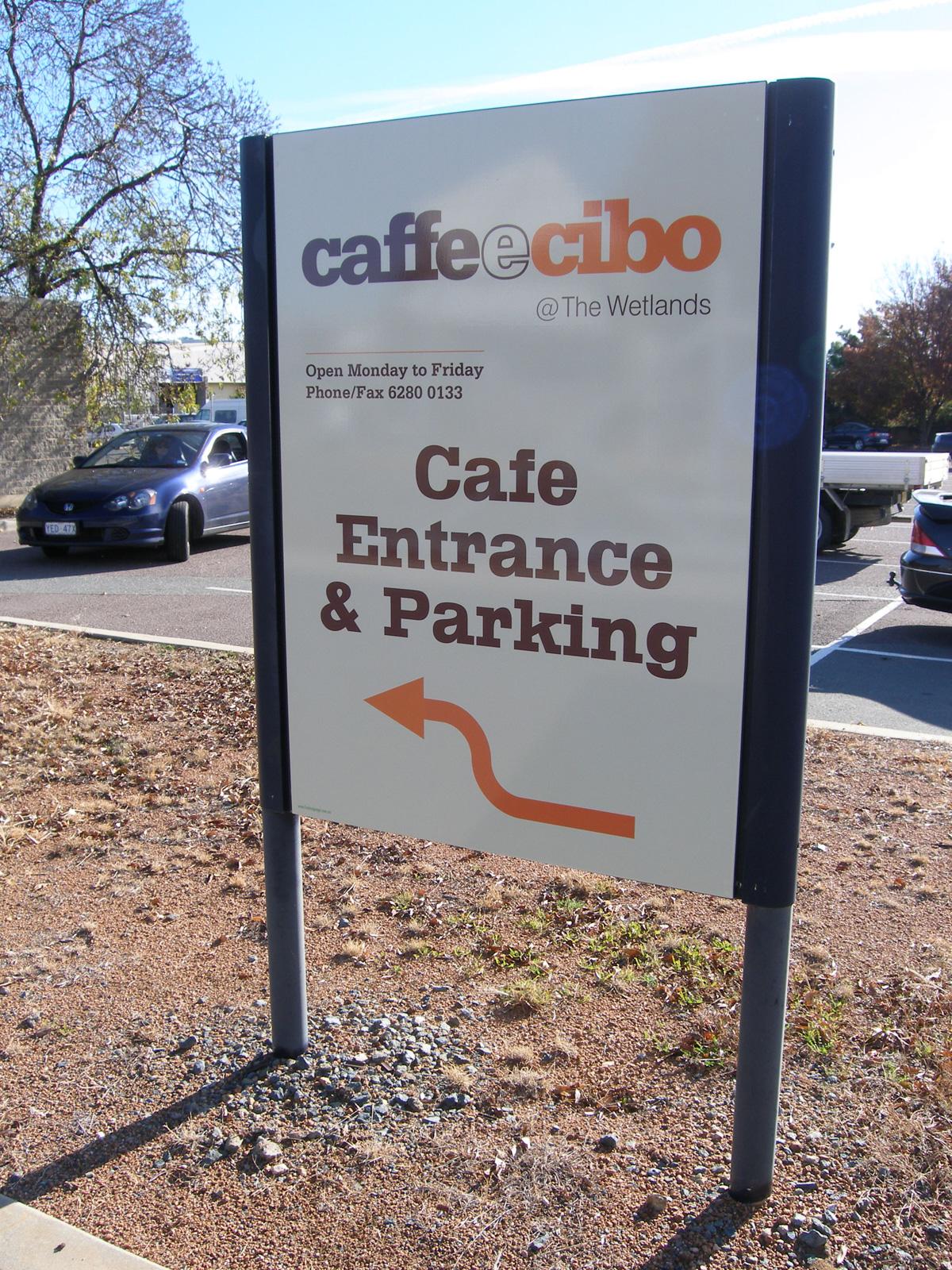 Caffe e Cibo Signs-In