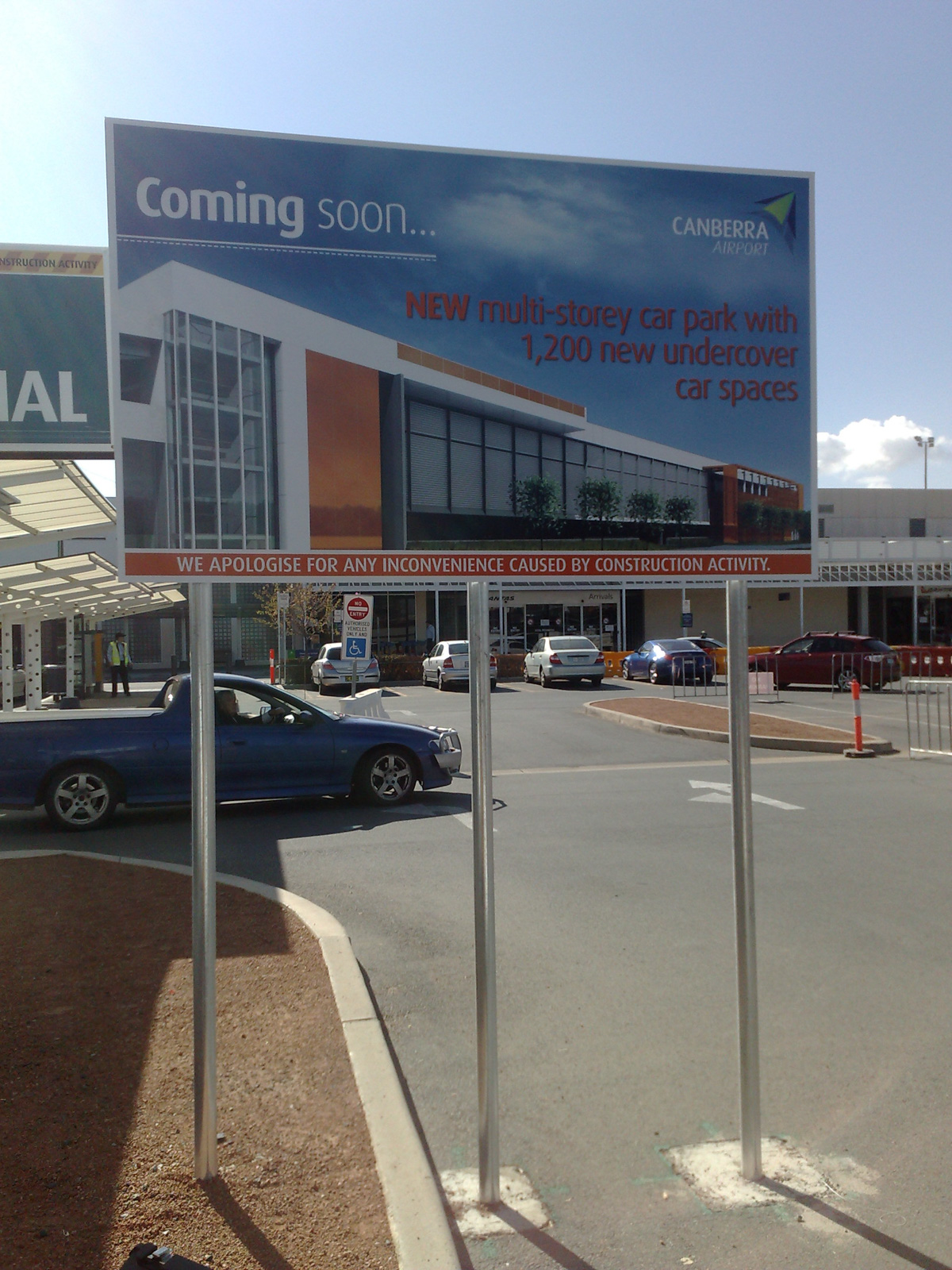Canberra Airport Building Signs