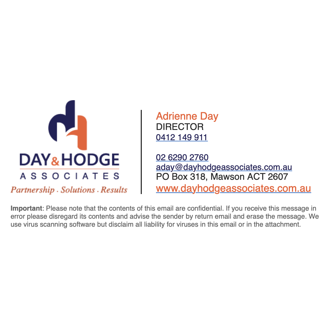 Day & Hodge Associates Email Signature Design from Canberra E-Signature Designers Fresh Creative