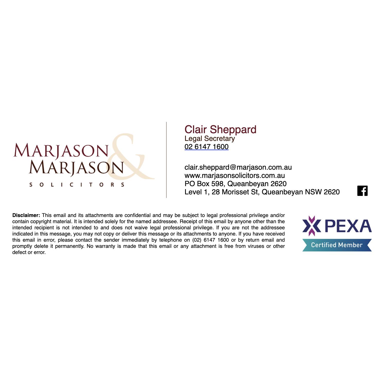 Marjason & Marjason Email Signature Design from Fresh Creative