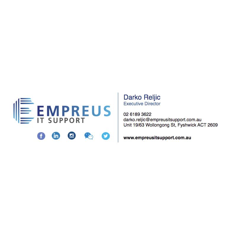 Empreus IT Support E-Signature Design from Fresh Creative