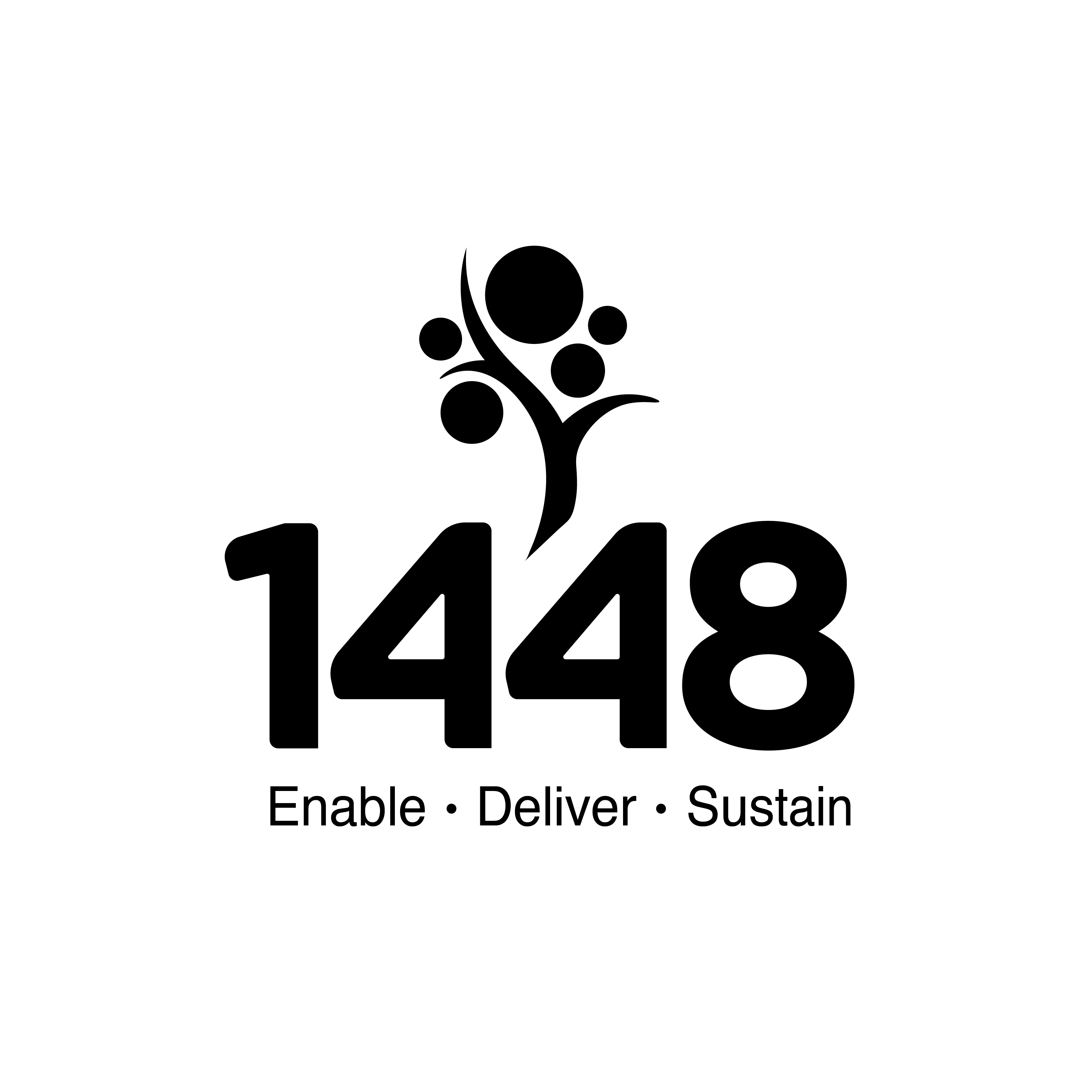 1448 logo from Canberra logo design company Fresh Creative