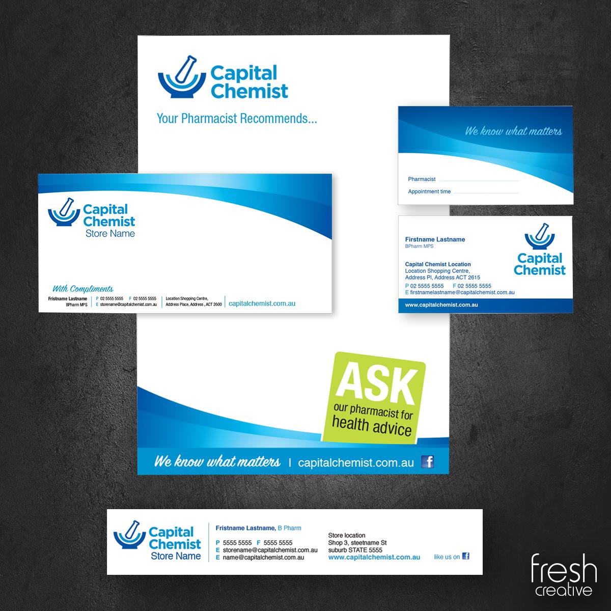 Capital Chemist Custom Corporate Stationery