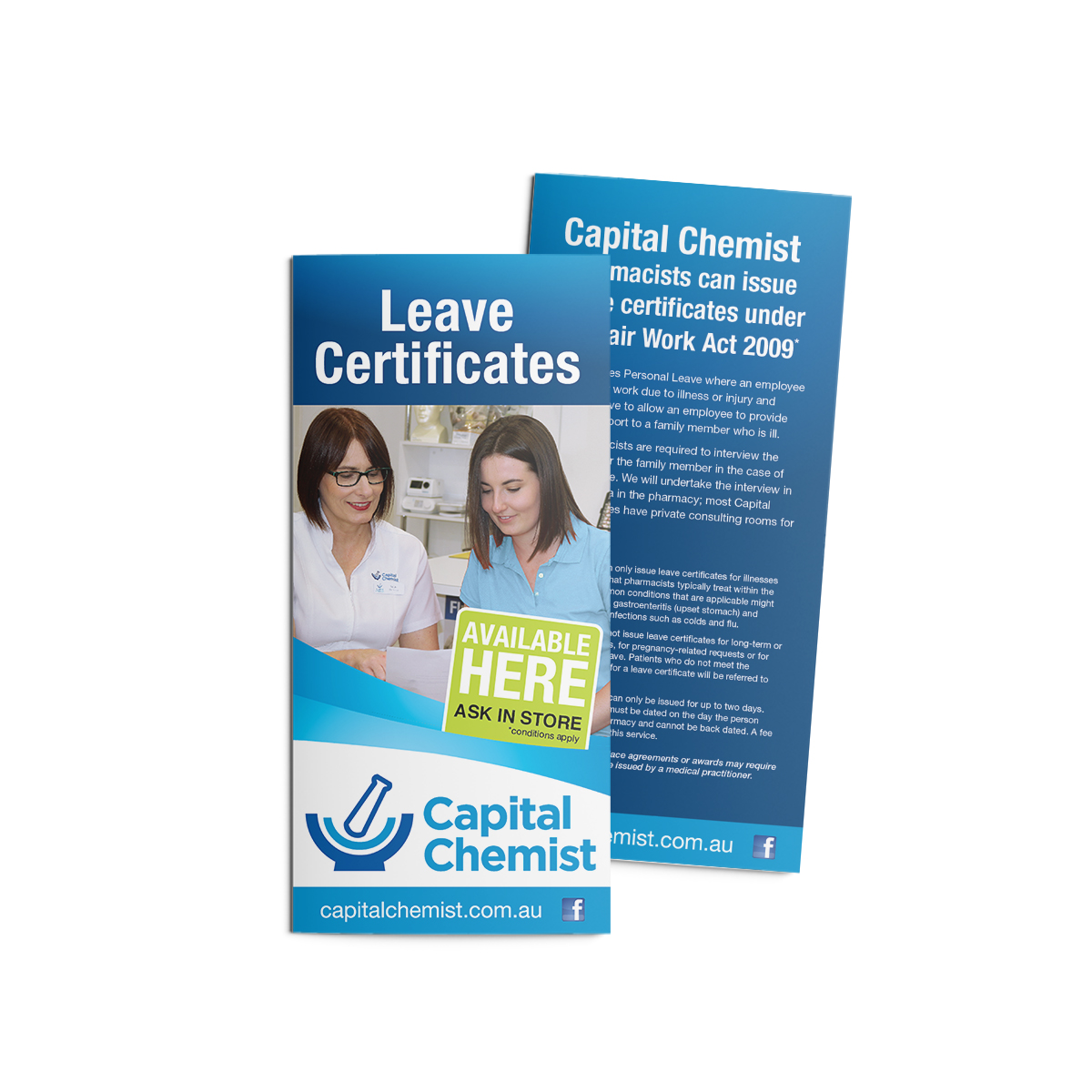 Capital Chemist Flyers