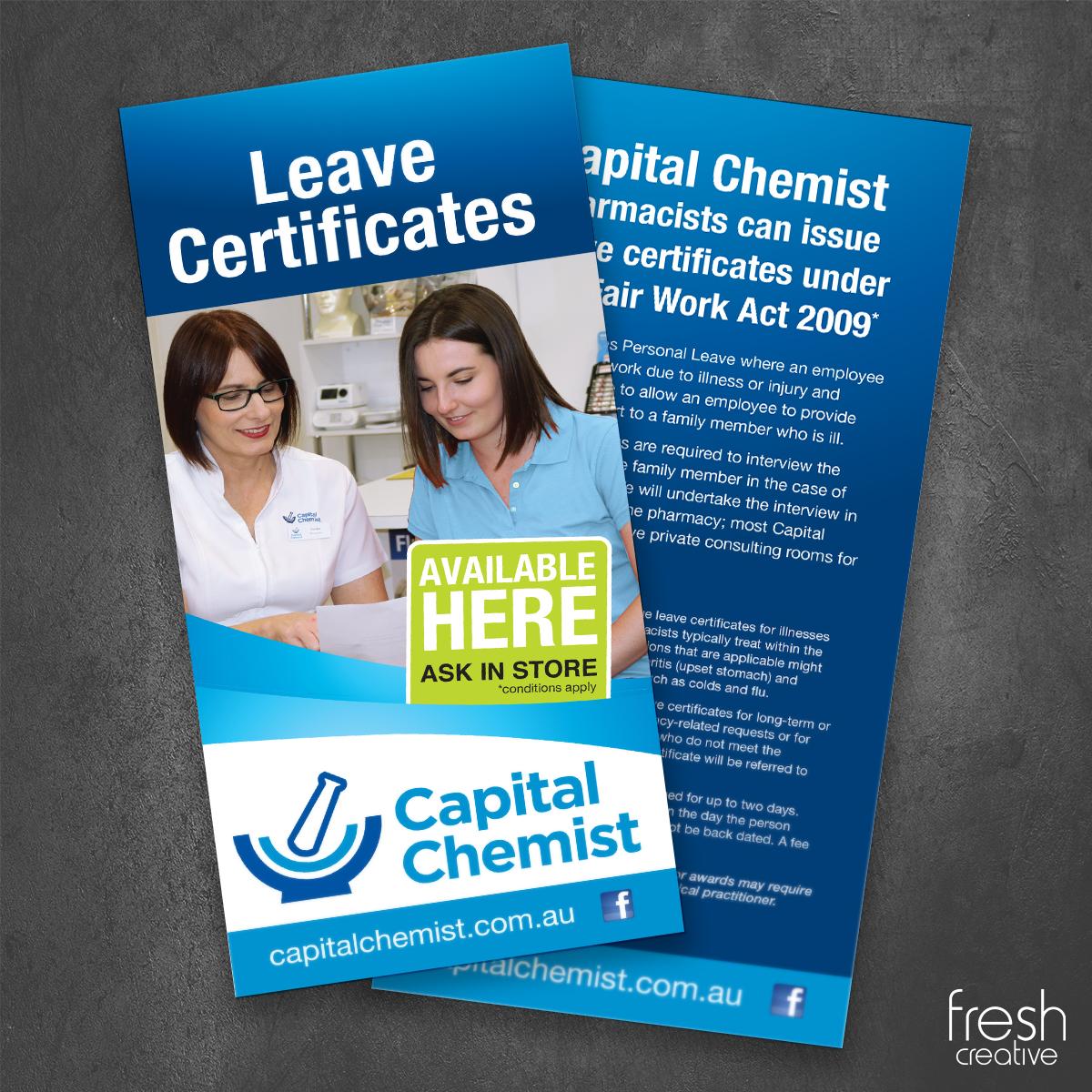 Capital Chemist Custom DL Flyer
