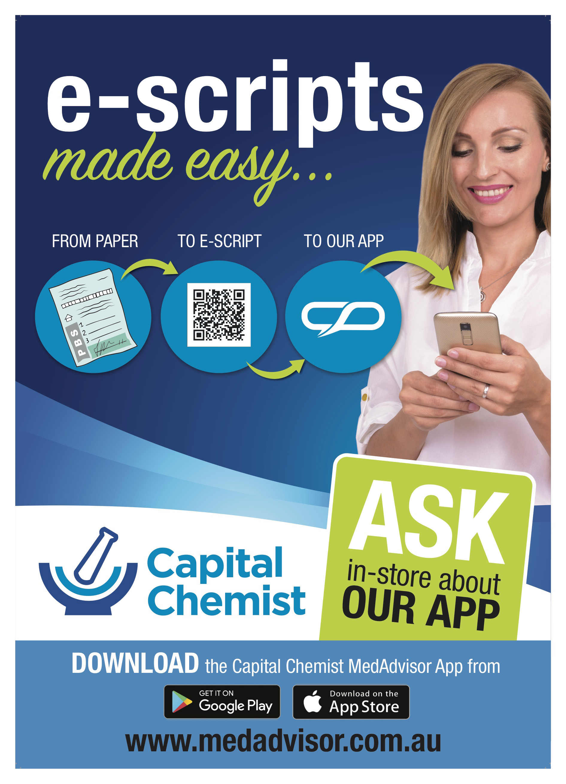 Capital Chemist Canberra E-Script Medadvisor Flyer