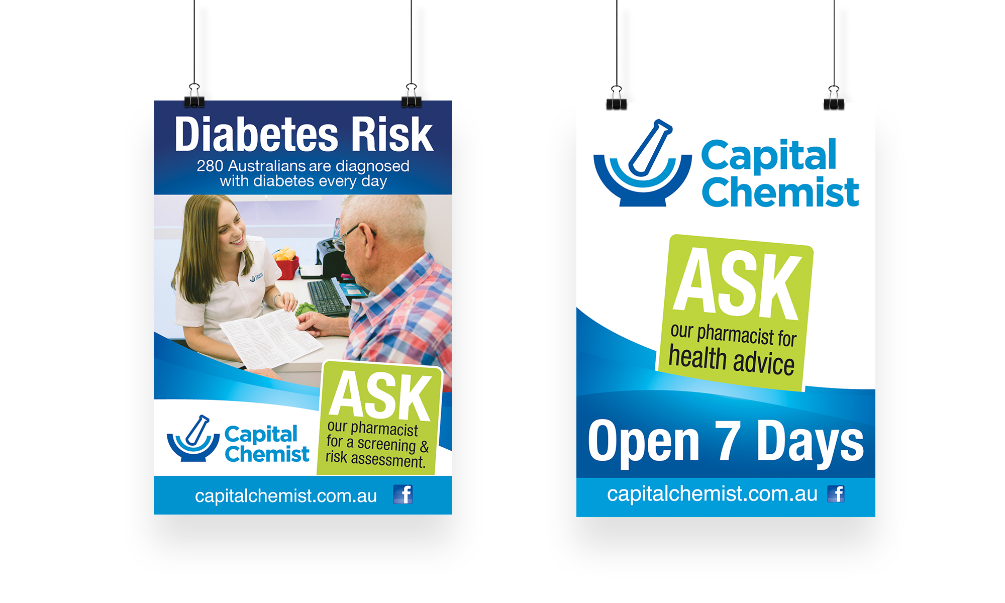 Capital Chemist Posters-set of two