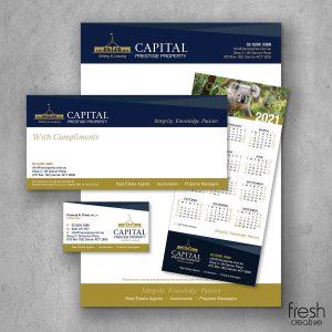 Capital Prestige Property Custom Corporate Stationery