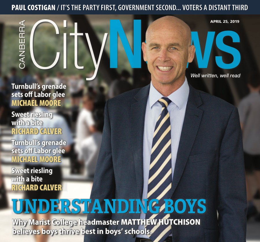 City News Cover Article About Boys' Education For Marist College Canberra