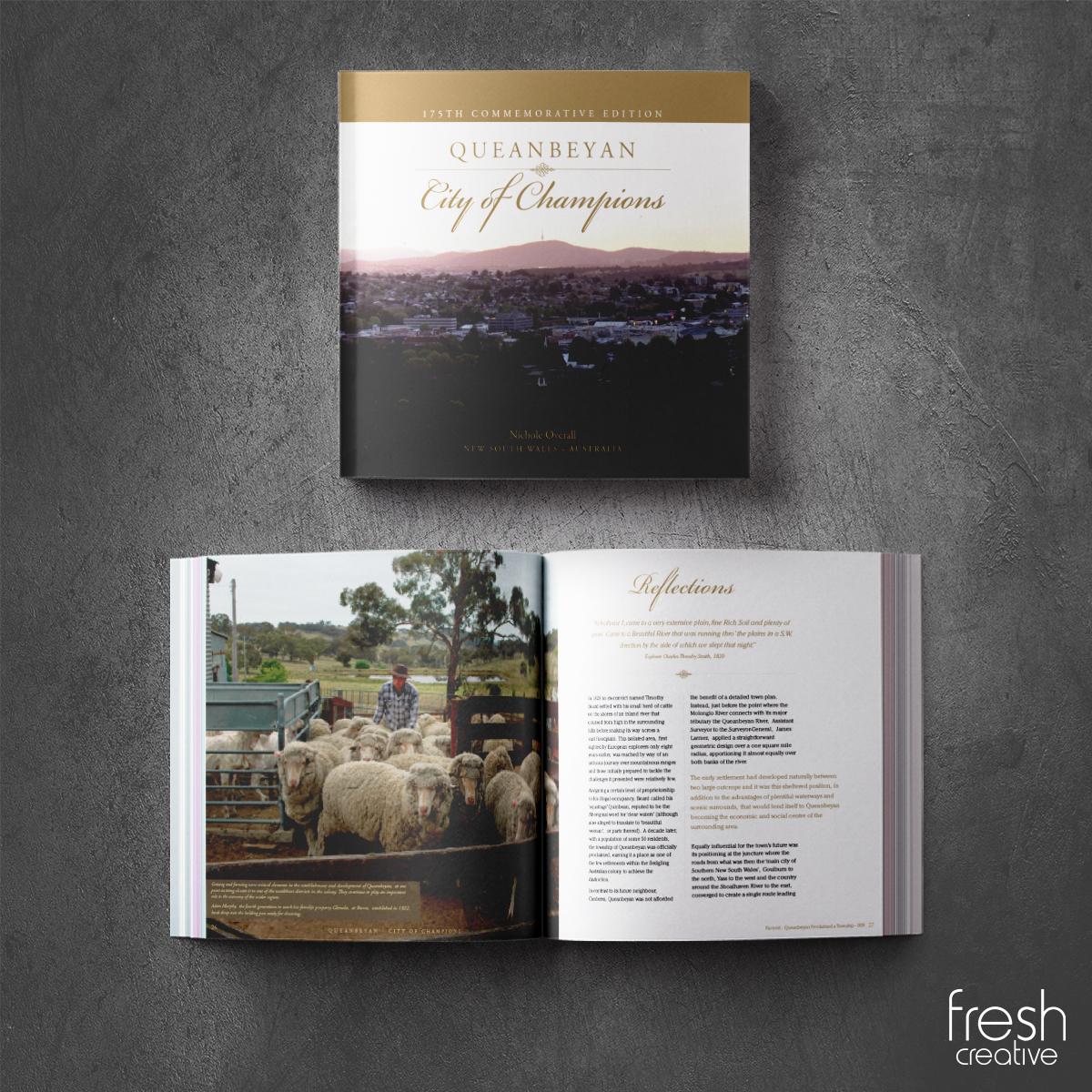 Custom Made Queanbeyan City of Champions Book
