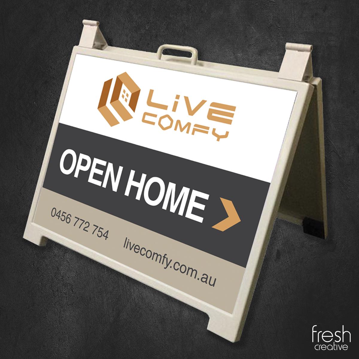 Live Comfy Portable Sign Canberra