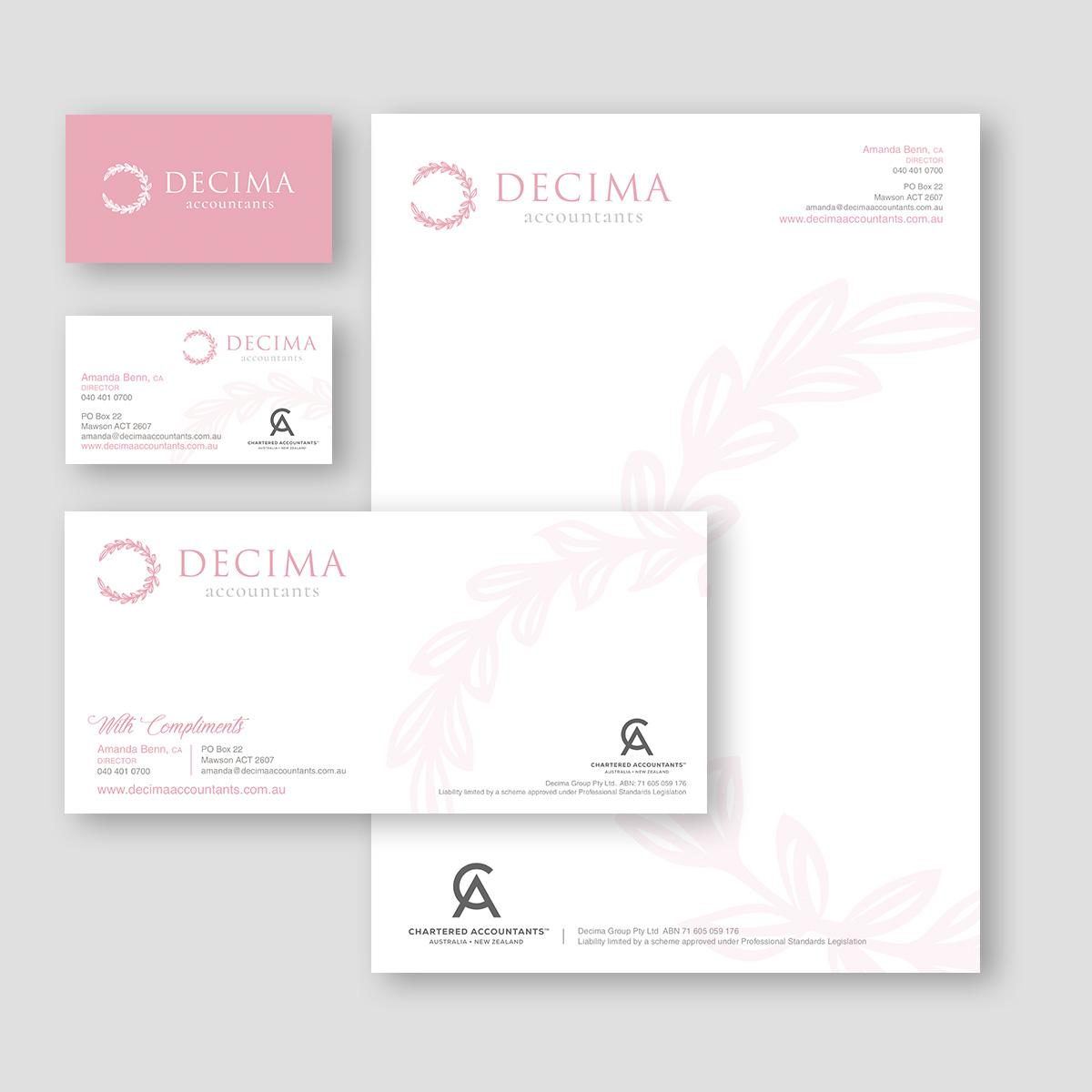 Decima Accountants Stationary