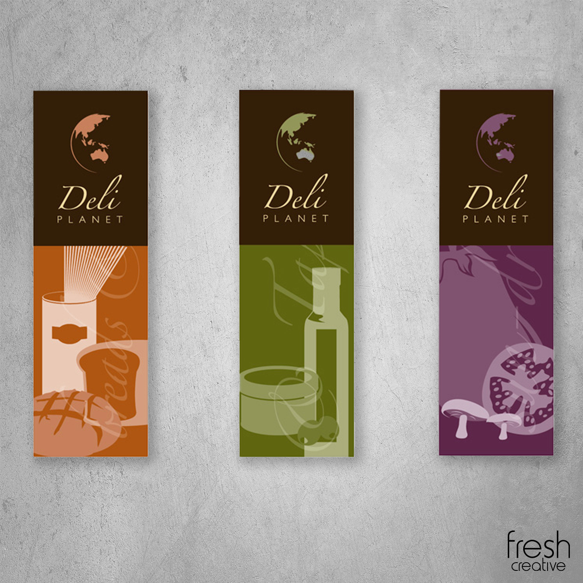 deli planet wall banners