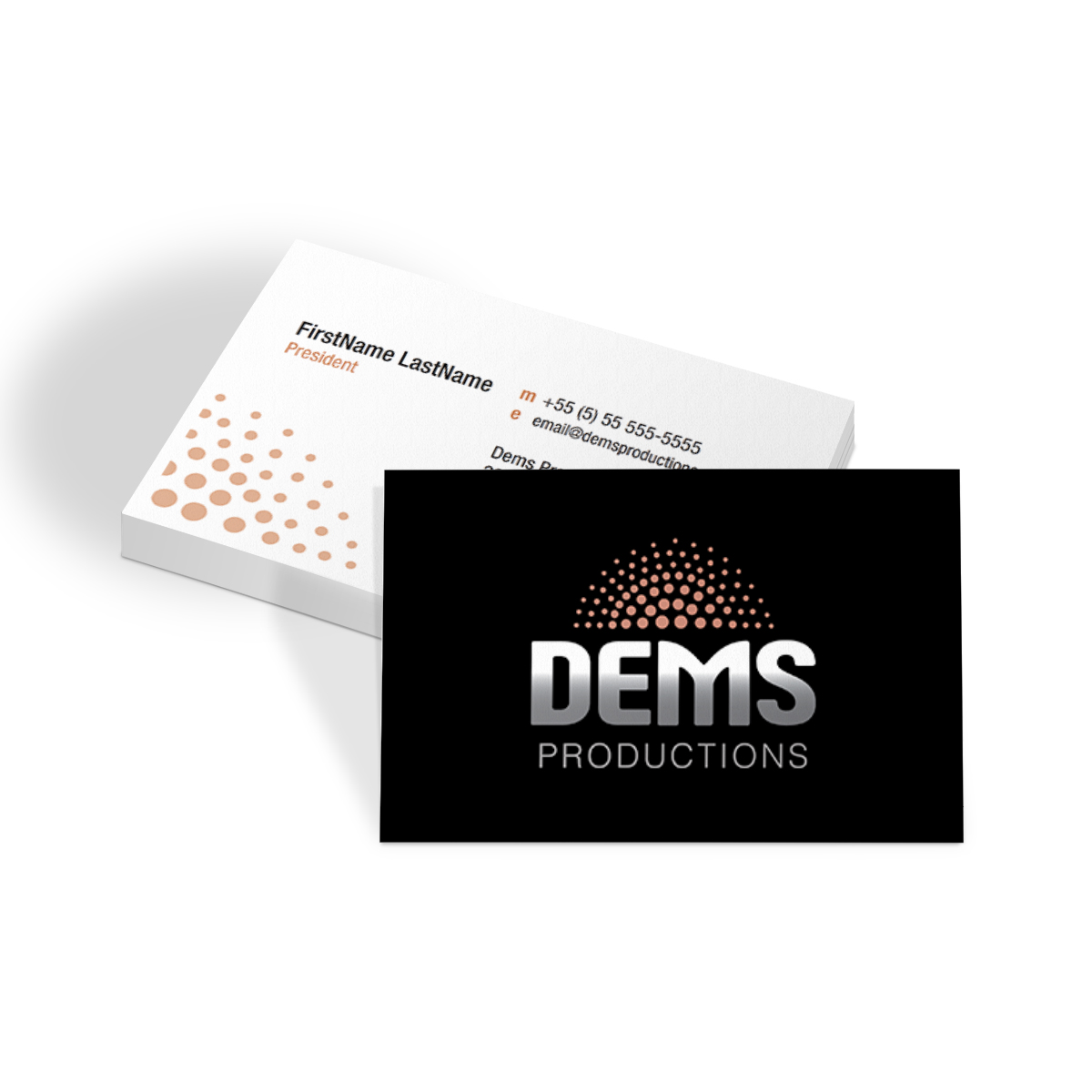 Dems Productions Business Cards