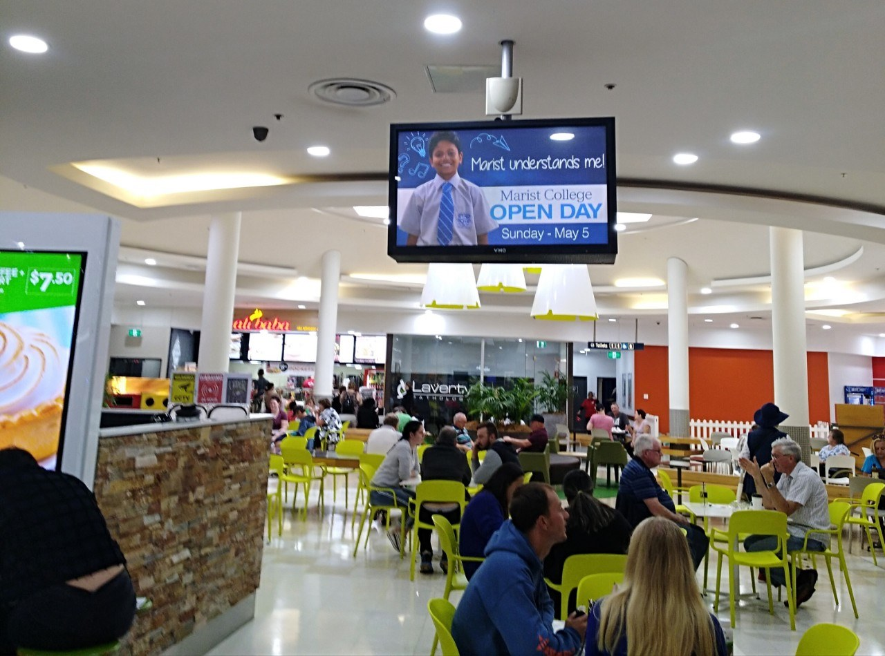 Digital Screen Advertising Promoting Marist College Open Day 2019