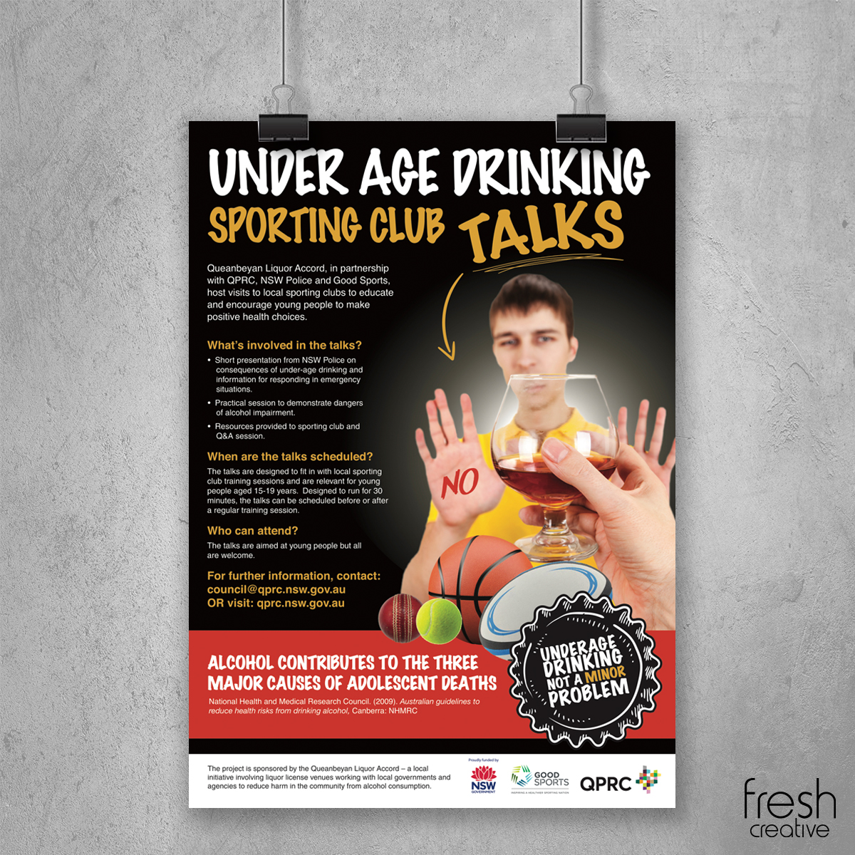 QPRC and NSW Government Drinking Poster