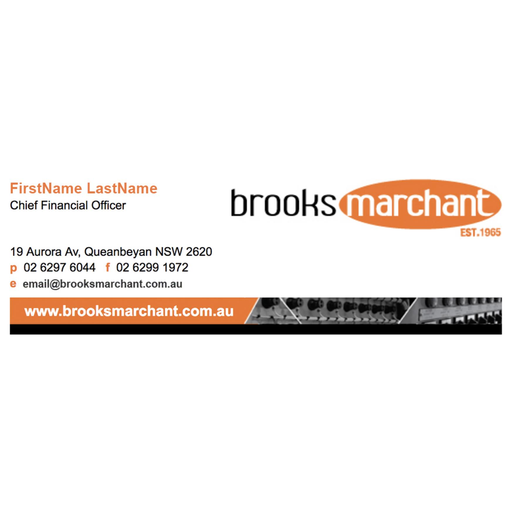 Brooks Marchant E-Signature Design from Fresh Creative