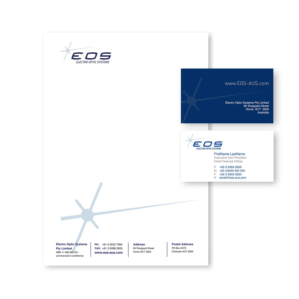 EOS Stationery mockup