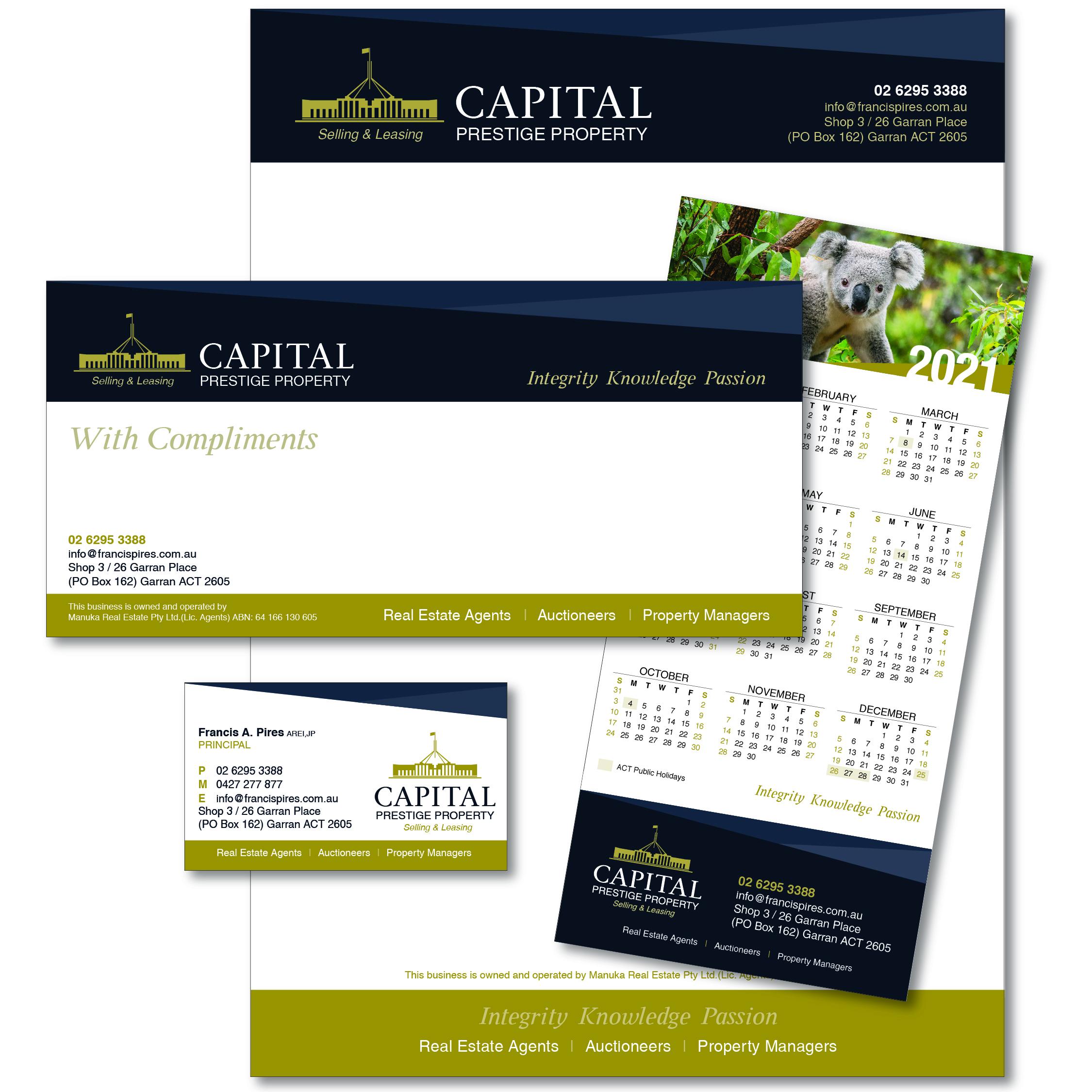 Capital Prestige Property Office Stationary 2020