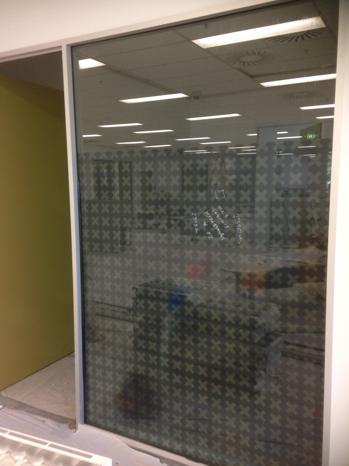 Glass etched film Canberra