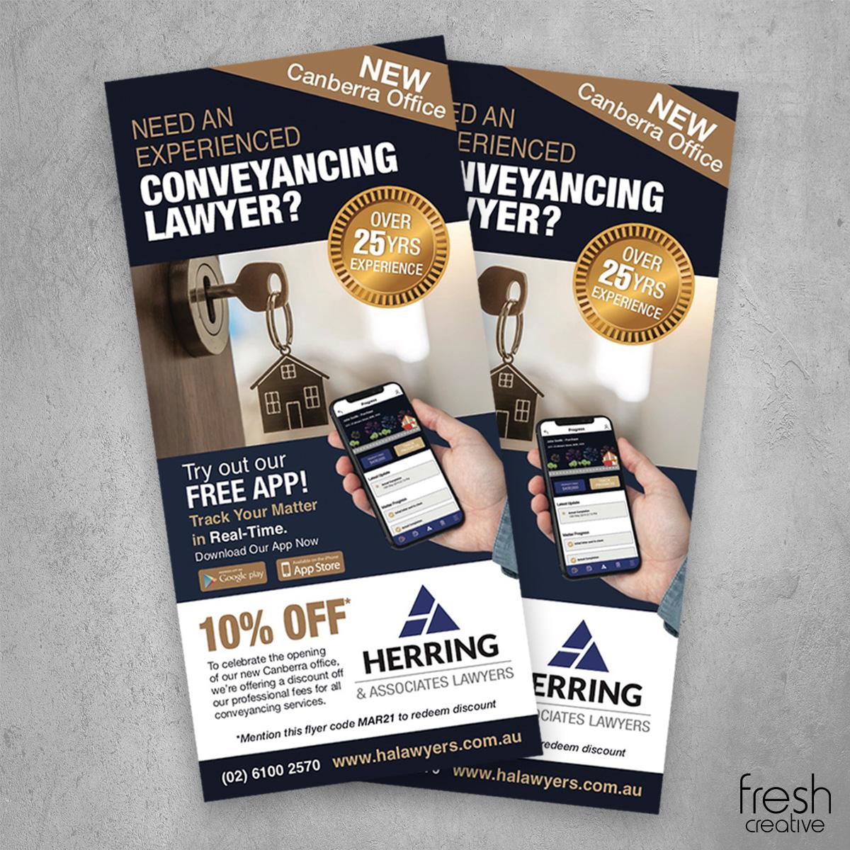 Herring and Associates Lawyers Custom DL Flyer