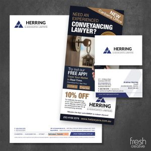 Herring and Associates Lawyers Custom Stationery Canberra