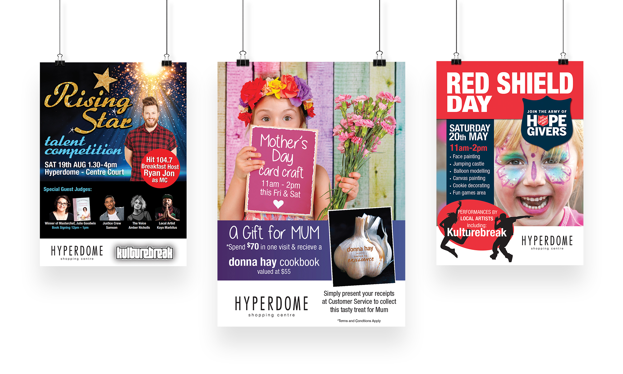 Hyperdome Outdoor Posters-set of three