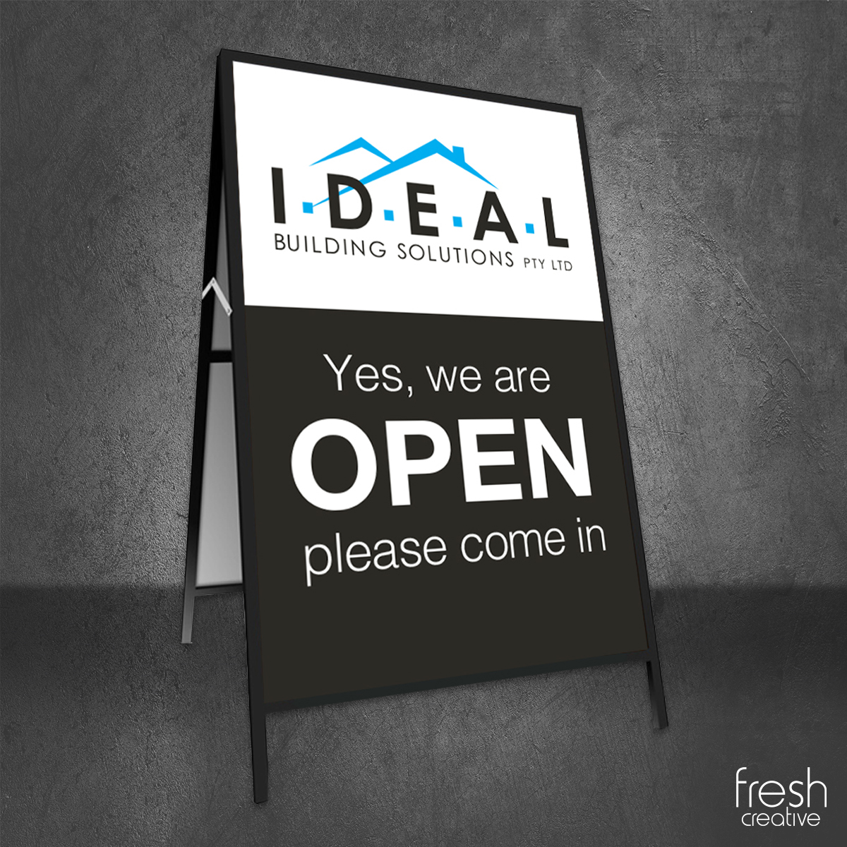 Ideal Building Solutions A-Frame Sign