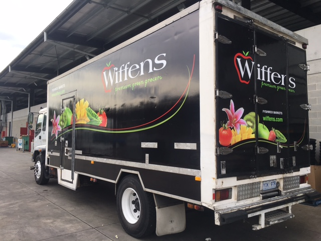 Wiffens new truck signage
