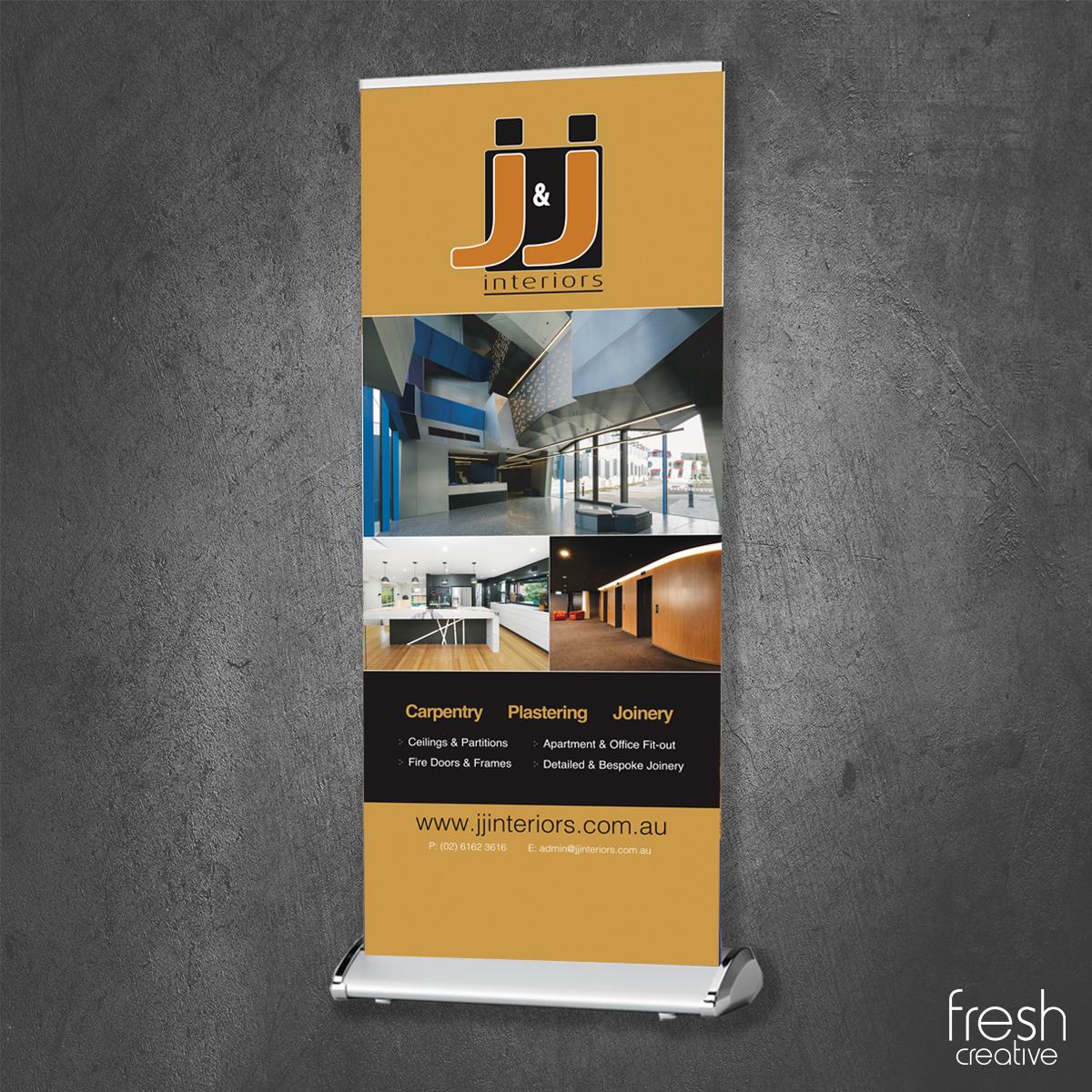 J&J Interiors Pull Up Banner Canberra