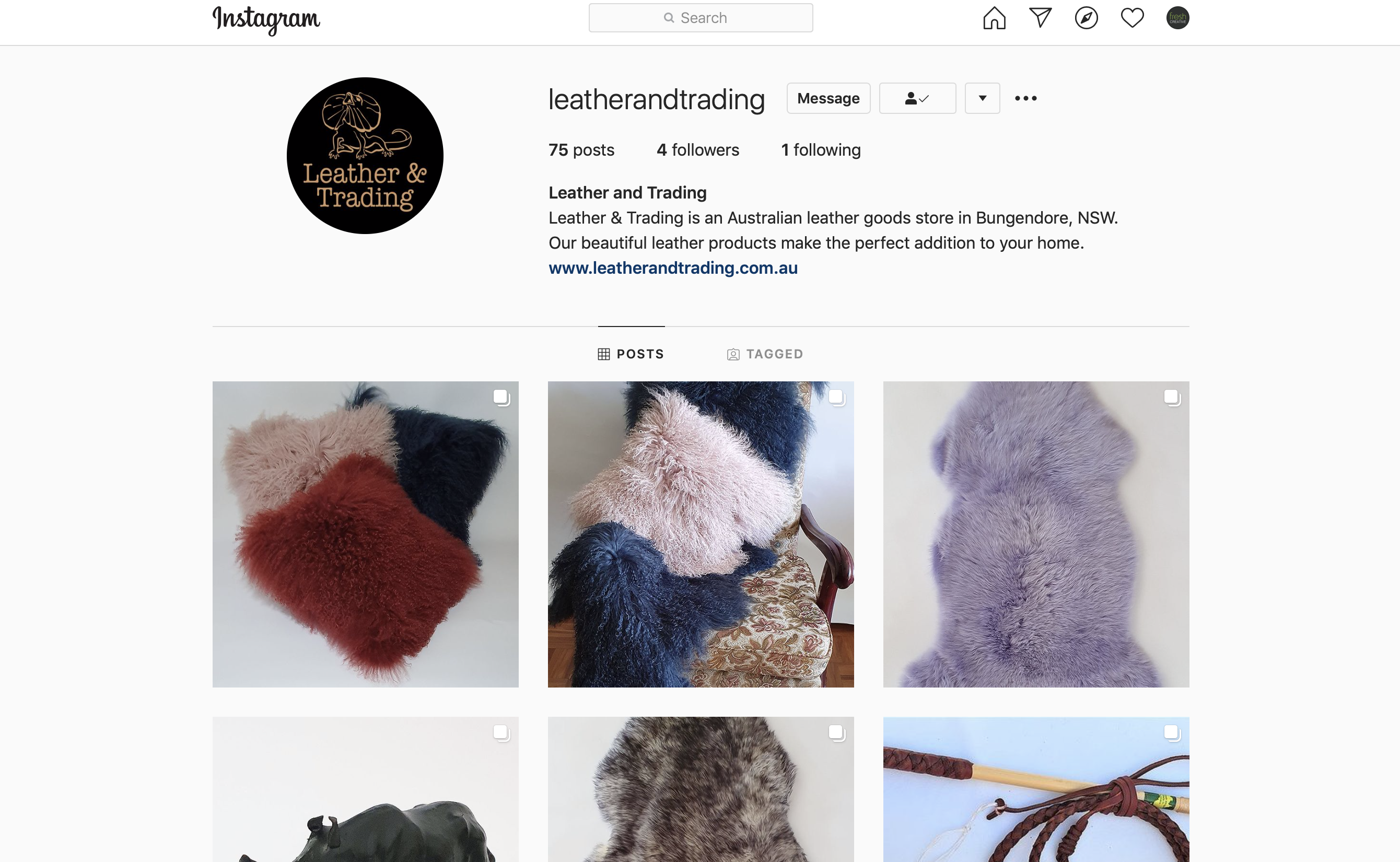 Leather and Trading Instagram Account