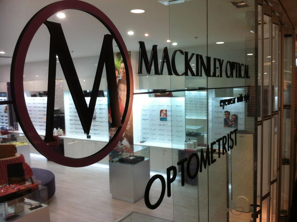 Mackinley Optical Reception Signage