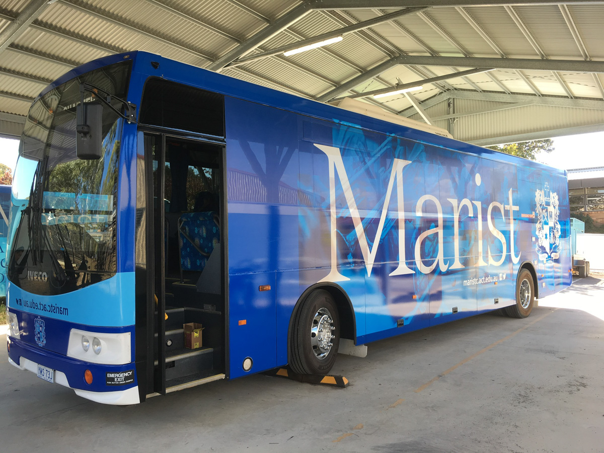Marist College Canberra Custom Bus Wrap