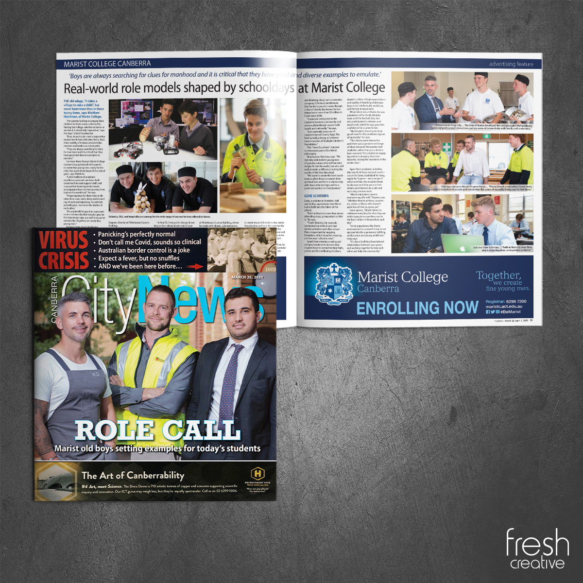 Marist College Canberra Newspaper Publication