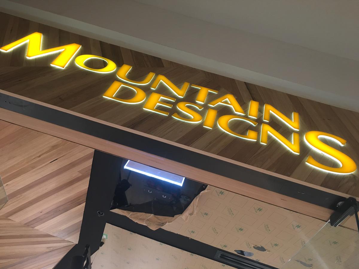 Mountain Designs Custom 3D Signage
