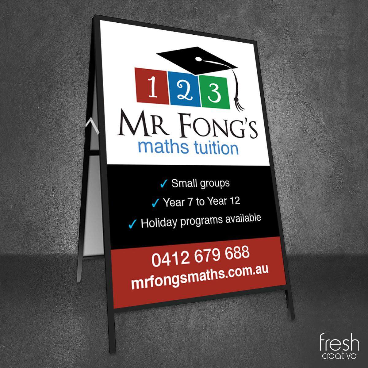 Mr Fong's A-Frame Signage Canberra