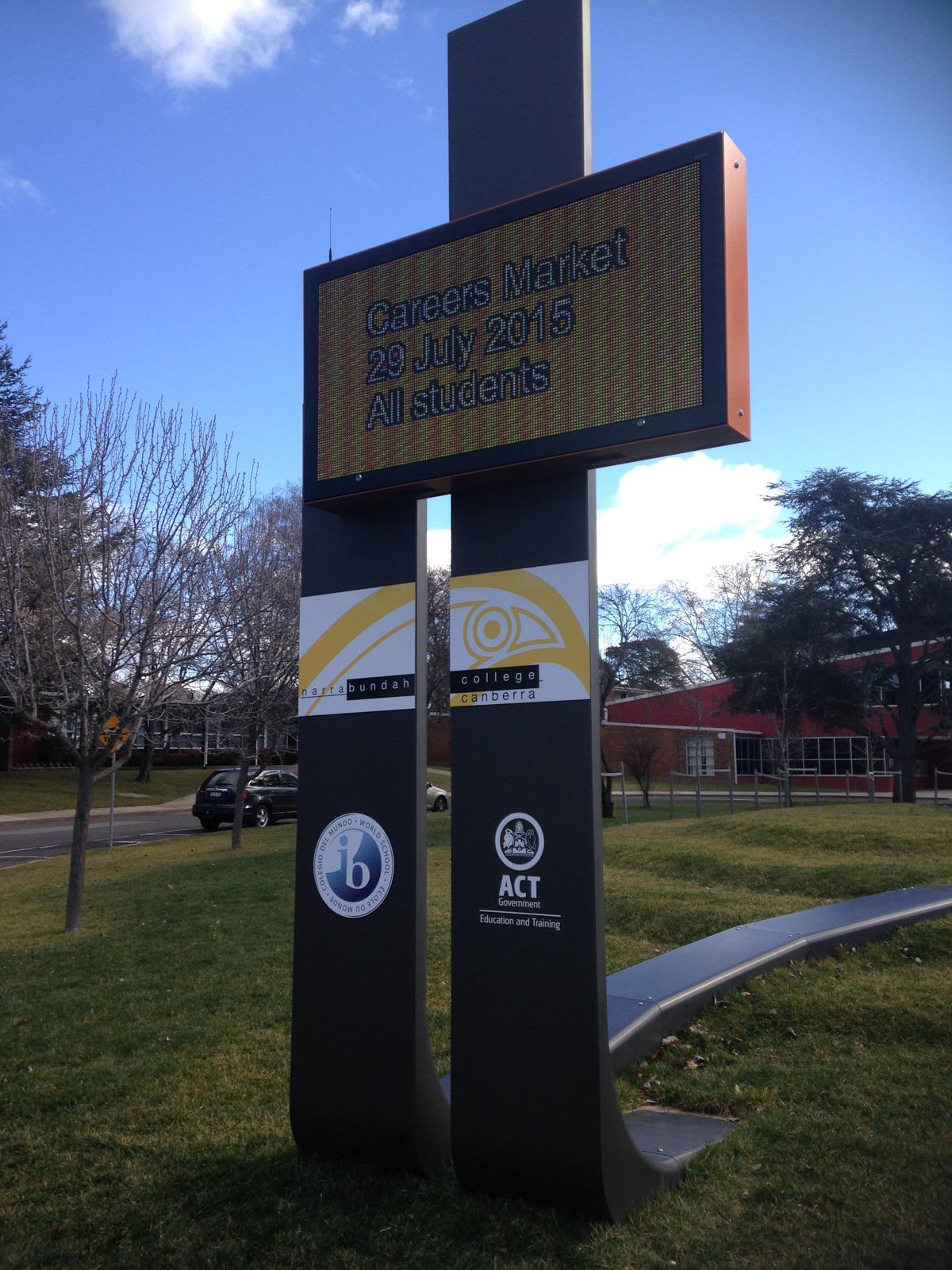 Narrabundah Fabricated Display Sign
