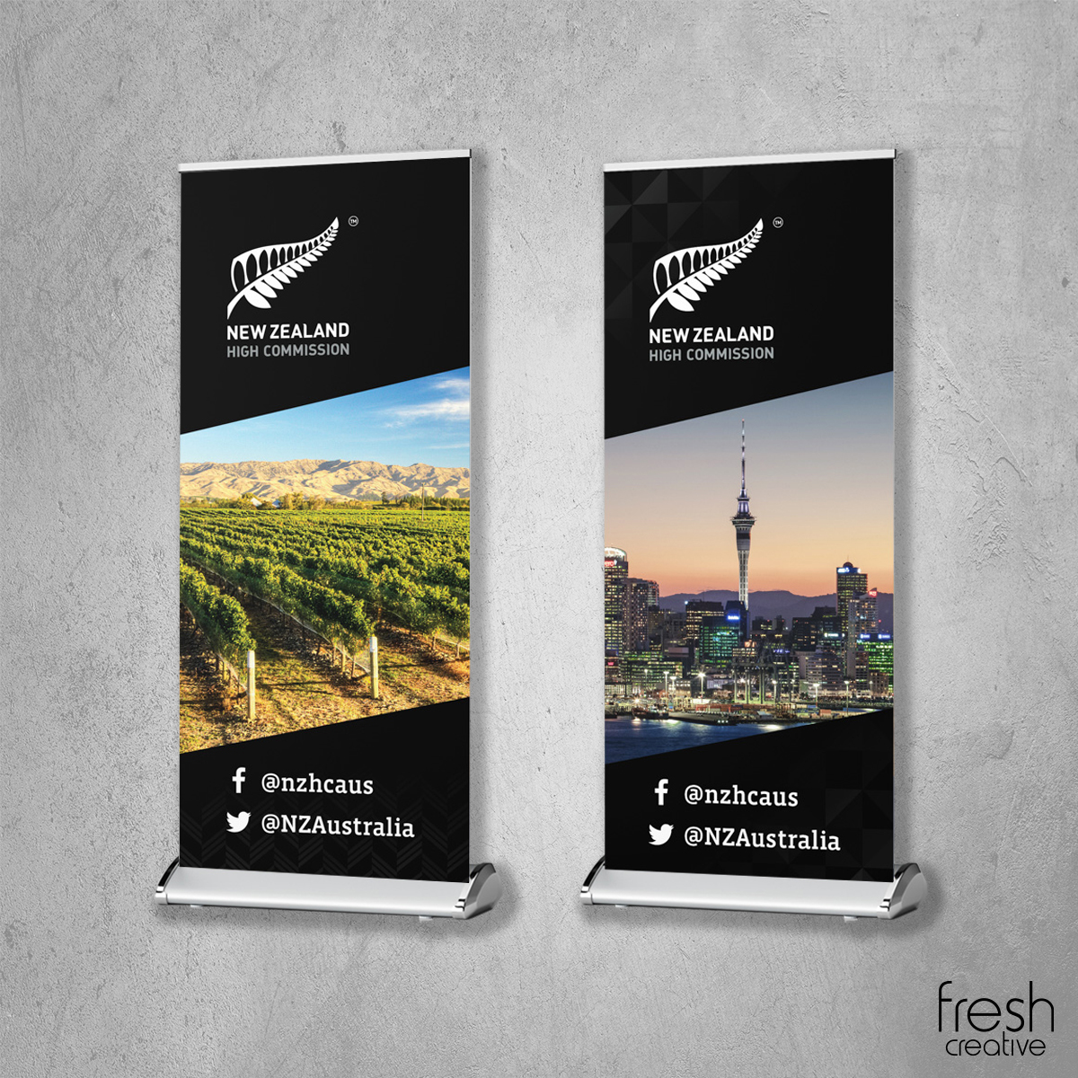 New Zealand Pull Up Banner Canberra
