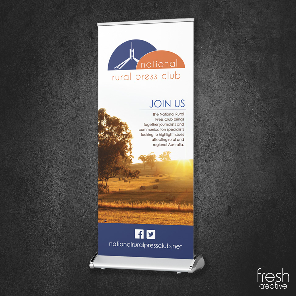 Custom National Rural Press Club Pull Up Banner Canberra