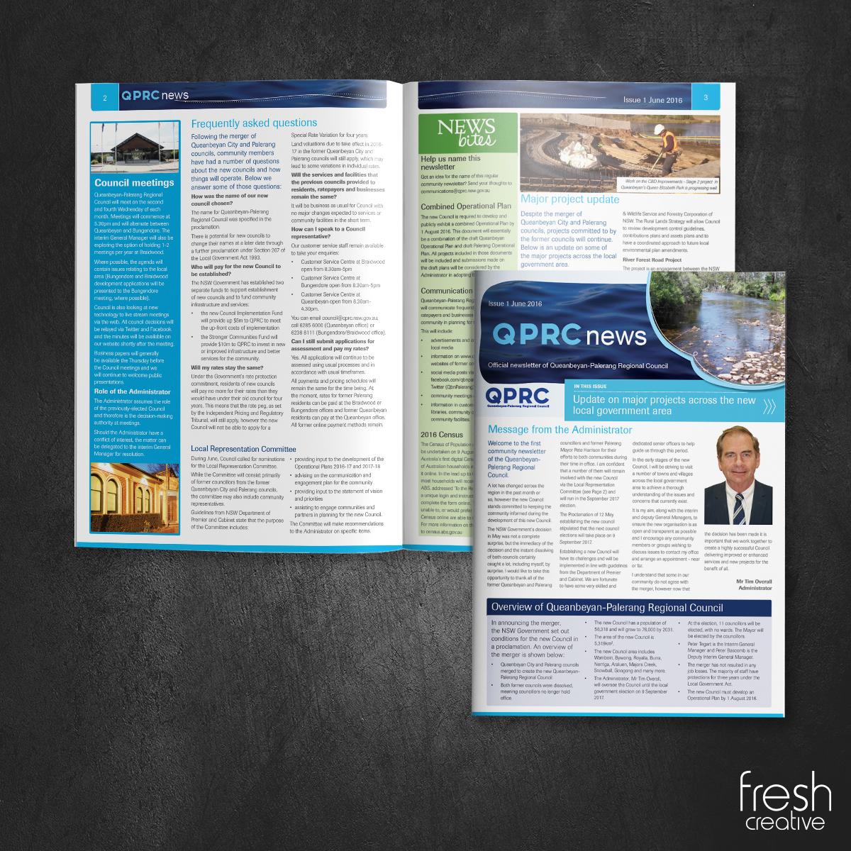 QPRC Custom Printed Newsletter