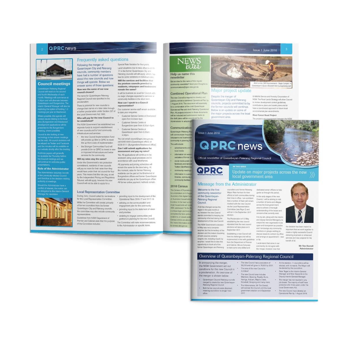 canberra newsletter publication design