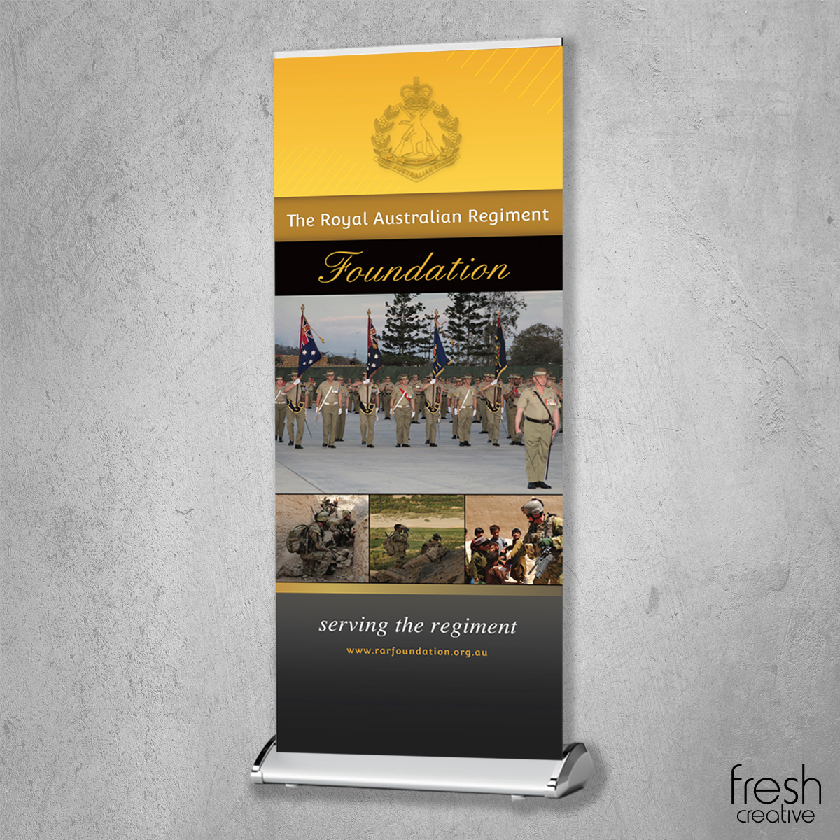RARF Pull Up Banner Canberra