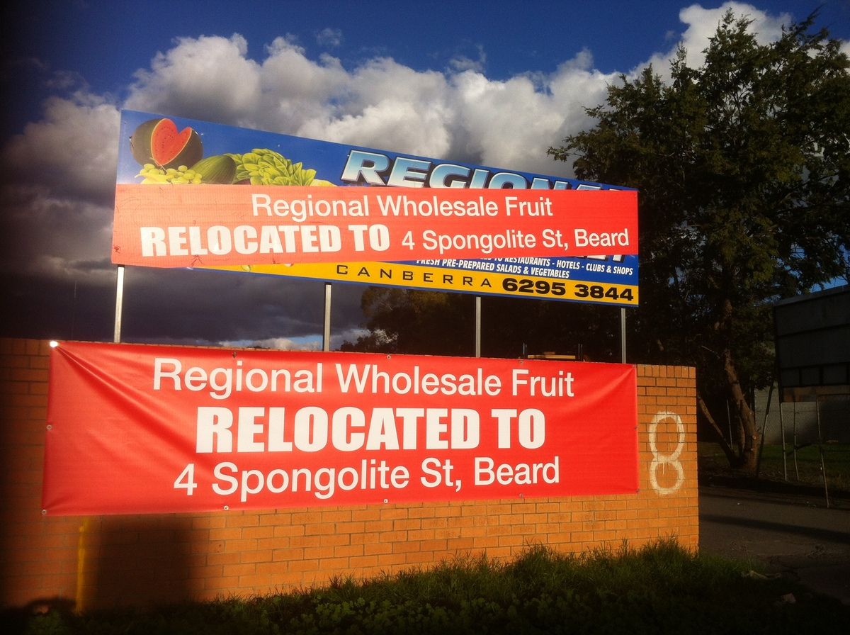 Regional Wholesale Fruit Outdoor Display Banner Canberra