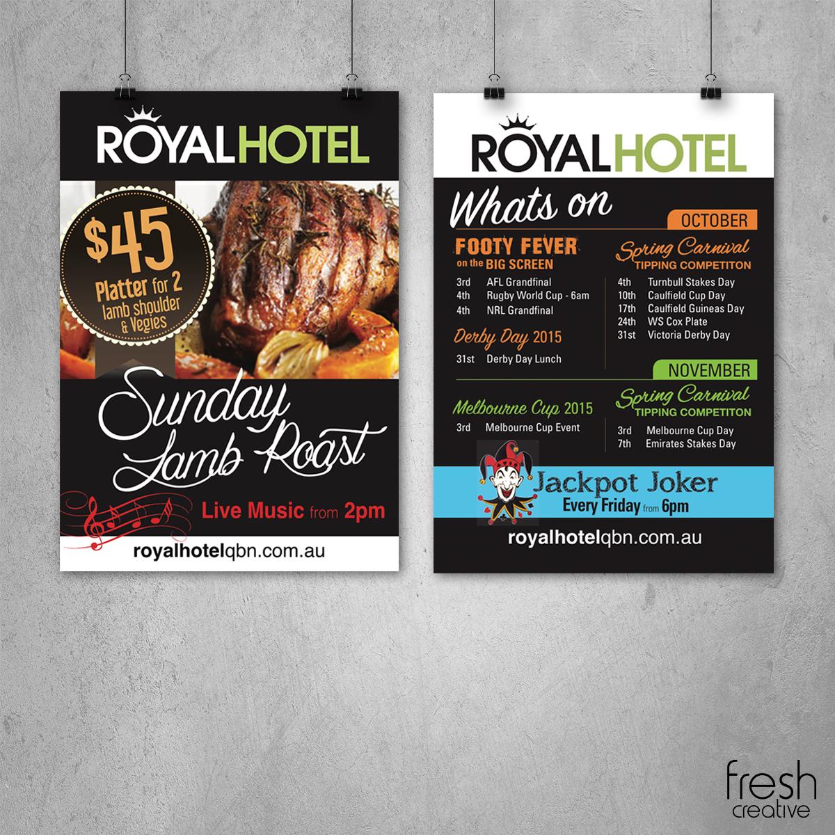 Royal Hotel Queanbeyan Custom Posters